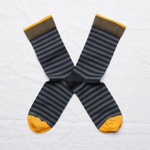 Socken Rayure Faux Noir