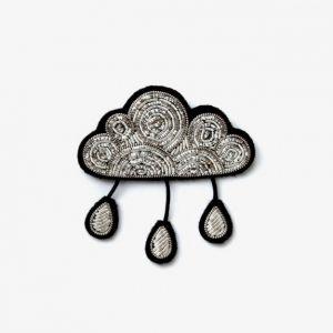 Brosche Regenwolke