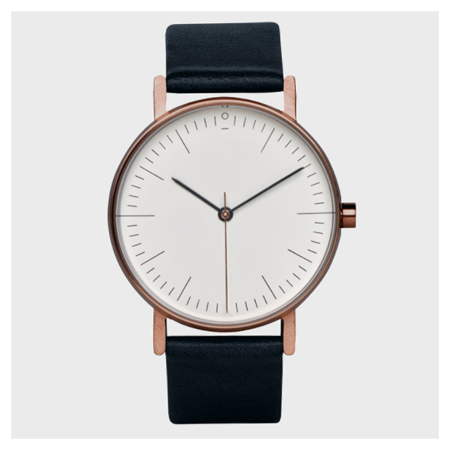 Armbanduhr S002R Rosévergoldet | Schwarz