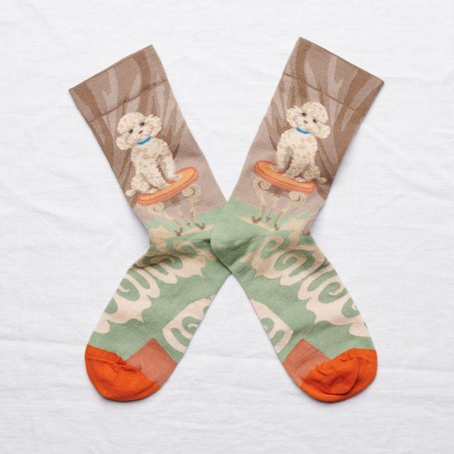 Socken Caniche Iris Fané