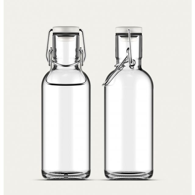 Glasflasche Klar