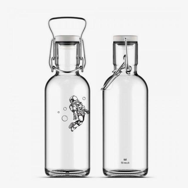 Glasflasche Spaceman