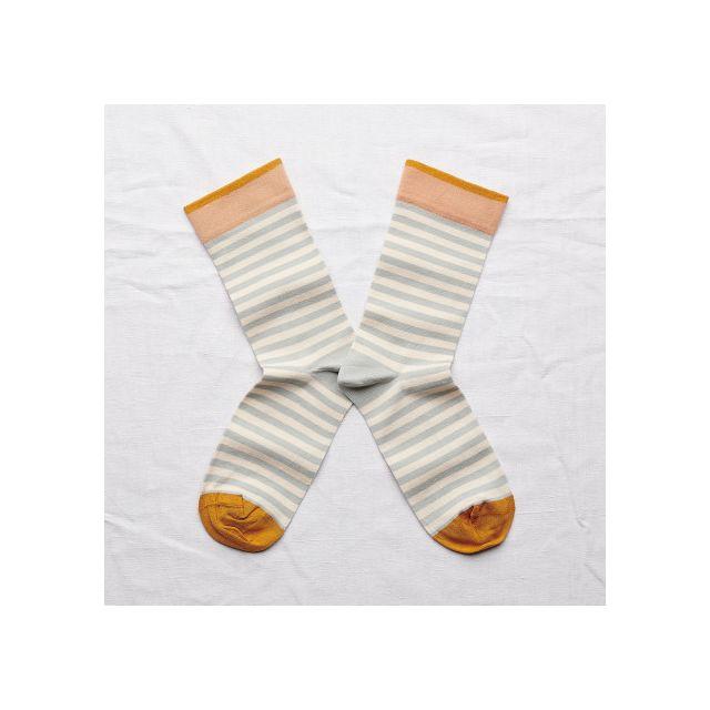 Socken Rayure Céladon