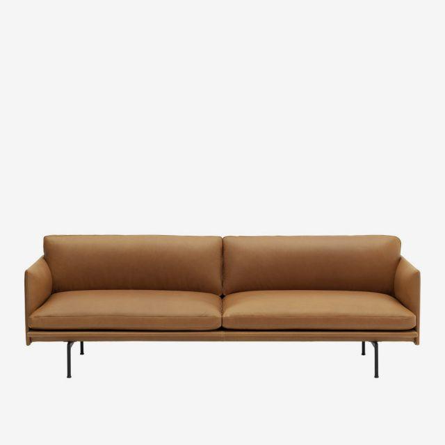 Sofa Outline 3er - Leder