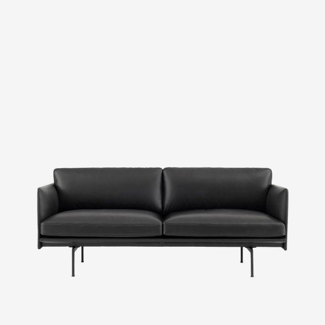 Sofa Outline 2er - Leder