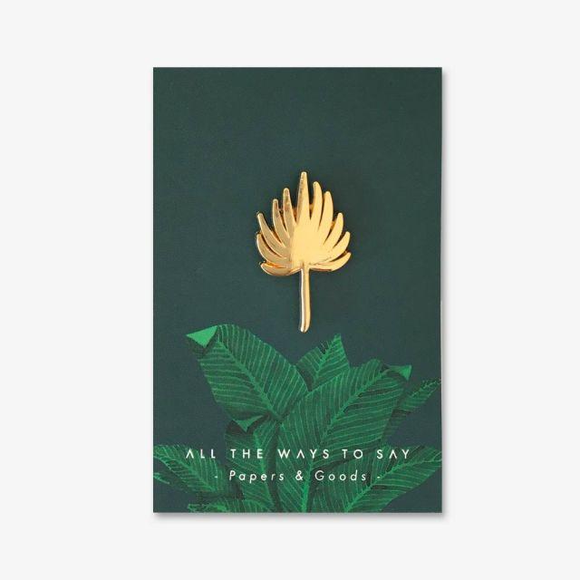 Pin Palm Leaf