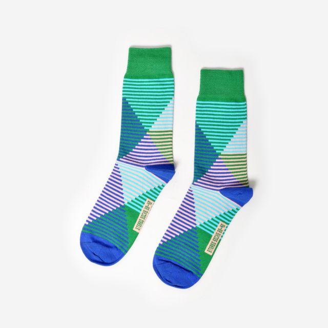 Socken Slant Rhyme Green