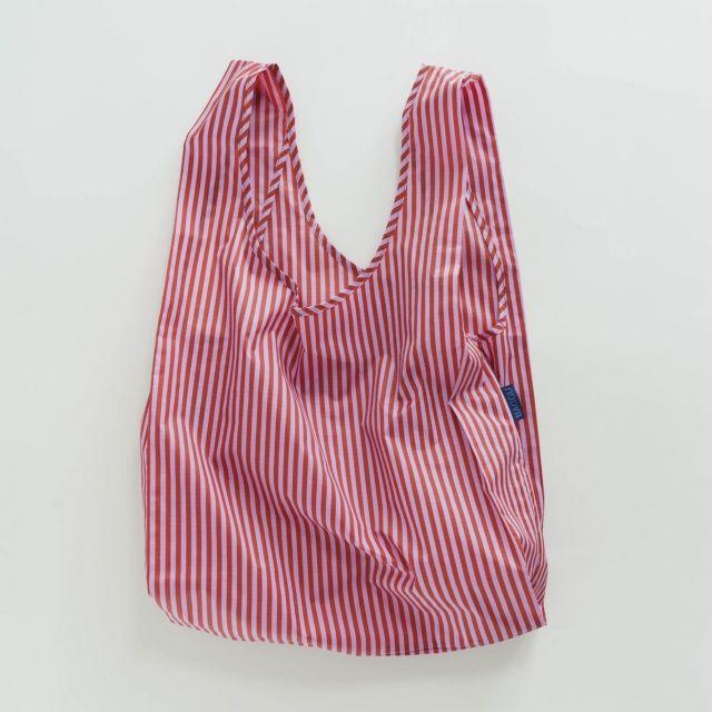 Einkaufstasche Cerise Stripe