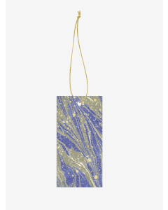 Geschenkanhänger Marbling Bright Blue