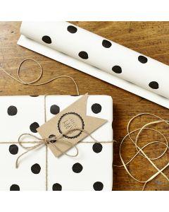 Geschenkpapier Punkte 3 mal 50x70cm
